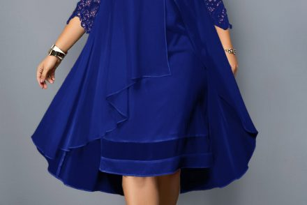 225254 G 1560836283725 440x294 - Plus size blue dress