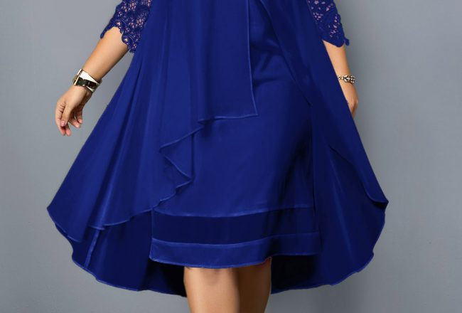 225254 G 1560836283725 650x440 - Plus size blue dress
