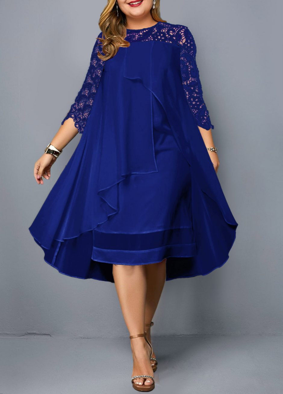 225254 G 1560836283725 940x1311 - Plus size blue dress
