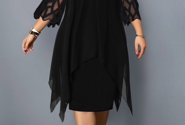 228147 G 1564389328449 650x440 - Plus size black dress