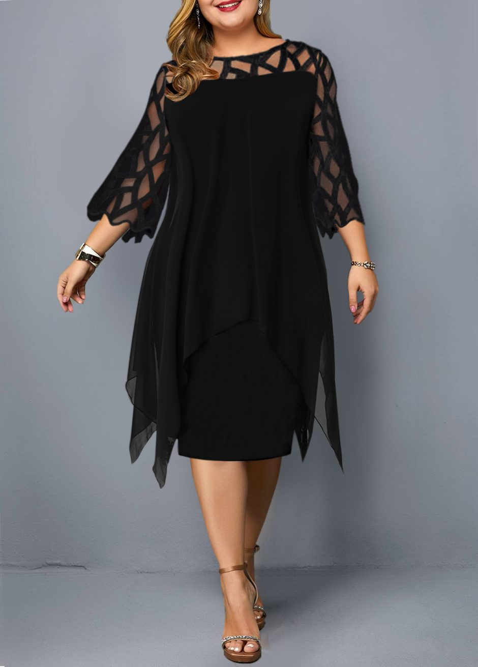 228147 G 1564389328449 940x1311 - Plus size black dress