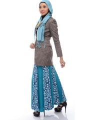 Ethnic Happy Heart Skirt (freesize, turquoise)